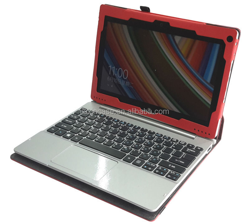 Flip Stand rotating 10.1 tablet leather case with keyboard for Acer switch 10 by China factory
