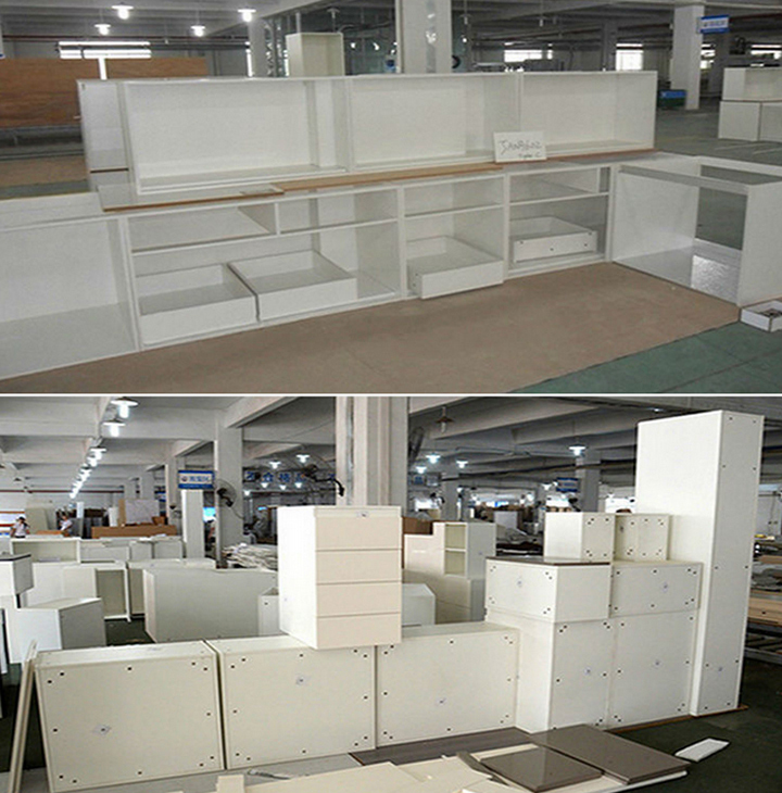 Mdf armoires de cuisine blanc armoires de cuisine for Cuisine moderne mdf