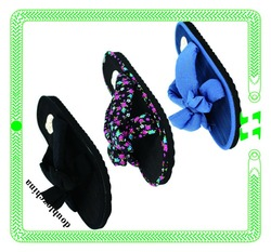 2015 new fashion flower women flip flops