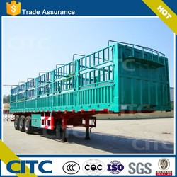 CITC fence semi trailer cargo semi trailer with FUWA axles trcuks for sale store house bar semi trailer factory price