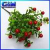 Wholesale 32cm Length Decorative Flower Artificial plastic Fruit bouquet with 7 Branches