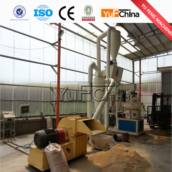 Tph rubber wood timber pellet mill for thailand market