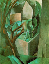 House in the garden pablo picasso painting abstract