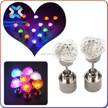 2015 Colorful Light Up LED Flashing Earrings For Christmas Wedding Decoration Made in China,led light earrings