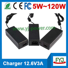 12v li ion battery charger 12.6v 3a charger for li ion battery pack 11.1v YJP - 126300