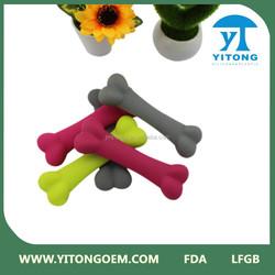 Pet supply/dog toy/silicone dog bone