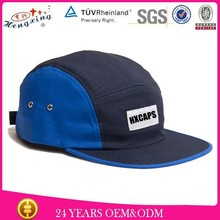 Two Different Brim 100% Cotton 5 Panel Flat Hat For retailer