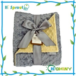 Winter use gift set baby blanket minky dot