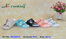 2015 New style fashion famous classic design Coolking PVC Slippers New design latest Flat shoes for women Birkenstock wholesale