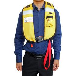 2015 new design nylon+TPU inflatable personalized life jacket for sea fishing