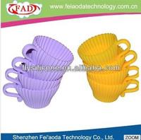 DIY cupcake / desset cup venice kitchen silicone teacup cupcake molds
