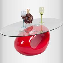 glass coffee tables/animal glass coffee table/oval shape glass table