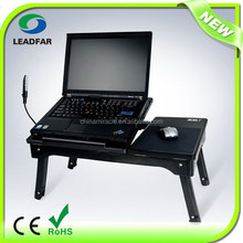 Multiuse deluxe foldable adjustable laptop table with USB hub