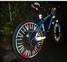 glow in the dark bicycle spoke cover/ bicycle decal for safety /motorcycle sticker