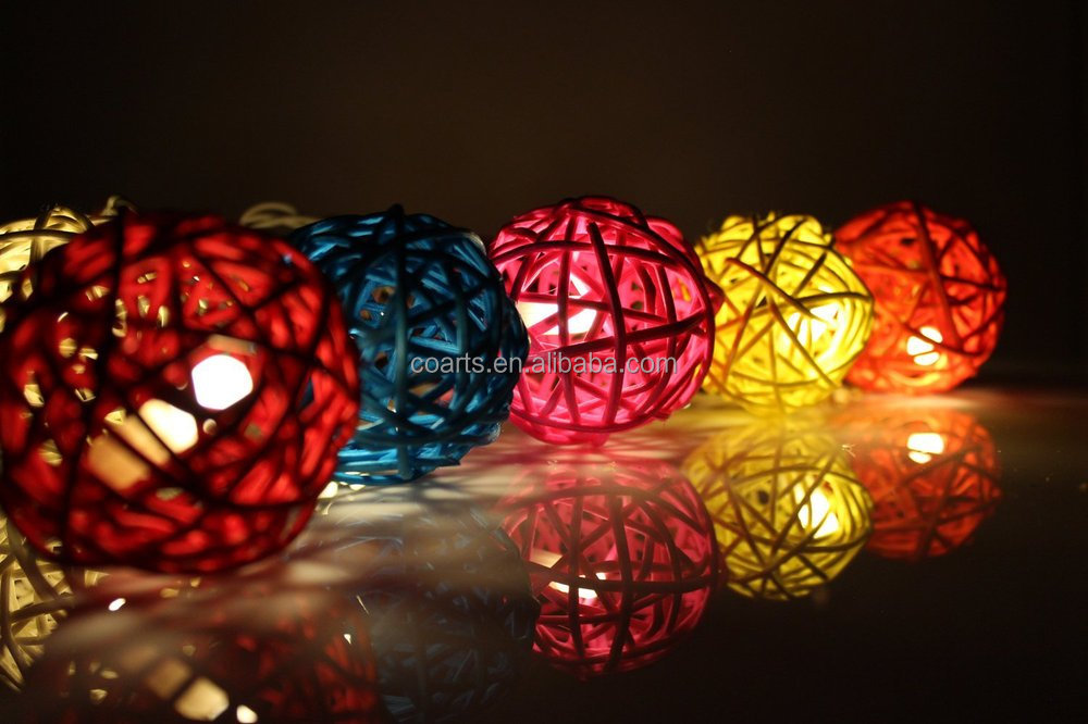 Purple Tone Globe Led Cotton Ball String Light For Christmas Outdoor String Lights - Buy Cotton ...