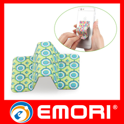 Corporate gift Microfiber Cloth Durable Adhesive Screen Cleaner & Mobile Stand
