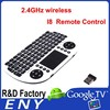 92 keys 2.4GHz wireless I8 Touchpad Remote Control