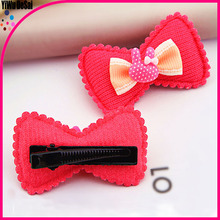 Wholesale Beautiful Baby girl high quality candy color hair accessories bowknot lovely hair clip