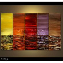 Handmade Modern Group abstract textured seascape Oil painting on canvas, Prosperity