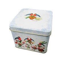 Square tin packaging box for cookie