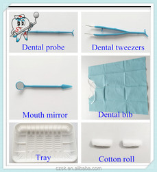 Disposable bag of dental materials dental kit 6 in 1 by alibaba china manufacture