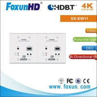 HDBaset HDMI Extender 100m Wall Plate over one Cat5e cable with 3D
