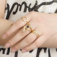 Newest Design Brand New Fashion Women Cupid Arrow Shape Ring Set 4pieces/set Wedding Ring Set X7-026