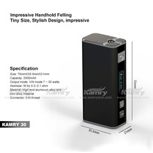 Mini size 30w box mod oled screen bulit-in battery Kamry30 Vv\/Vw box vaporizer