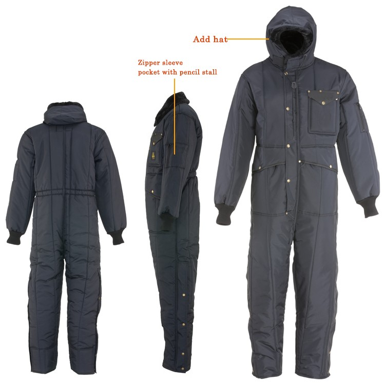 Winter cold room 3m reflective freezer workwear suit coverall in cold storage clothing wear  sc 1 st  Alibaba & Winter Cold Room 3m Reflective Freezer Workwear Suit Coverall In ...