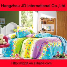 multi colours beautiful lovely flowers 196TC bedding set for hometextile 100% cotton duvet cover set