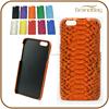 Orange Genuine Python Skin Snakeskin Leather Phone Case for iphone 6 / Iphone 6 Plus
