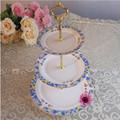 /de porcelana de cerámica de tres capas de pastel de pie
