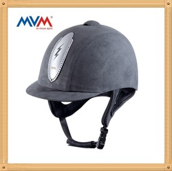 light gray cover horse racing helmet #71556-X5