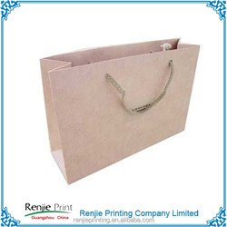 recycleD kraft brown paper grocery bag with flat handle