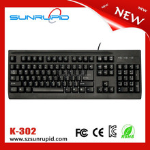 USB Wired 104 Keys Laser Laptop Standard Keyboard