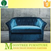 Moontree MSF-1205 modern design single blue fabric sofa chair
