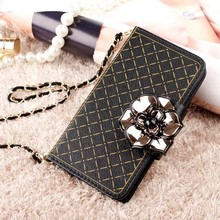 For Apple iPhone 6 Rose Chain Leather Wallet Phone Phone Case