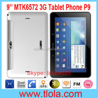 9 inch MTK6572 Dual Core Tablet Laptop with 3G Mobile Phone Function
