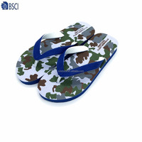 Rubber upper material and PE outaole material fashion beach slippers summer flip flop sandals