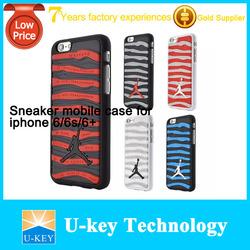 2015 Hot sale Drop shipping fashion Jordan case for iphone 5 5s 6 6s 3D Shoe Sole Rubber+PC Case