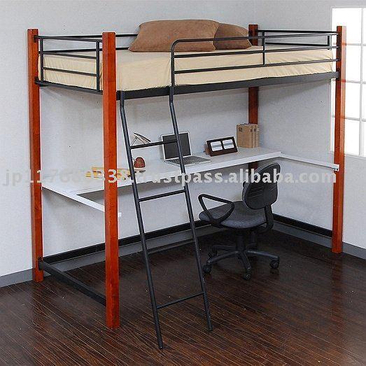 Mejor precio de metal marco de la cama con escritorio - Camas infantiles con escritorio ...