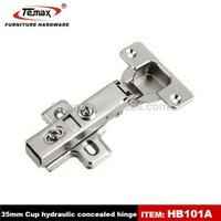 Decorative hydraulic buffering hinges tool box hinge
