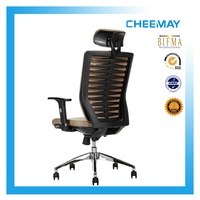 Top quality high back executive PU office chair with ergonomic tilting seat and locker