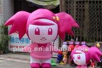 2012 Hot Sell Inflatable Beautiul Girl Cartoon