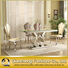 stainless steel dining table and chair sets designs 902#