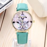 2015 Women Watch fashion casual new quartz leather watch colorful jigsaw high quality feminine round dial wristwatches Christmas