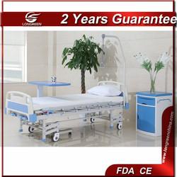Best price detachable head&foot board 3 crank patient bed