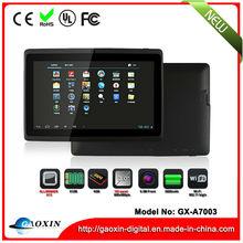 Las ventas calientes 7 pulgadas mini ordenador portátil de bajo precio en fábrica de Shenzhen GX-A7003