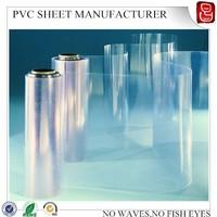 300um calender thin vinyl printing super clear pvc rigid sheet