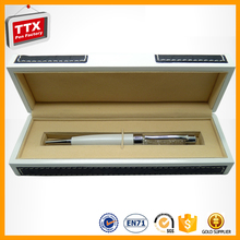 The best price you can get business gift leather box with metal ballpoint pen
